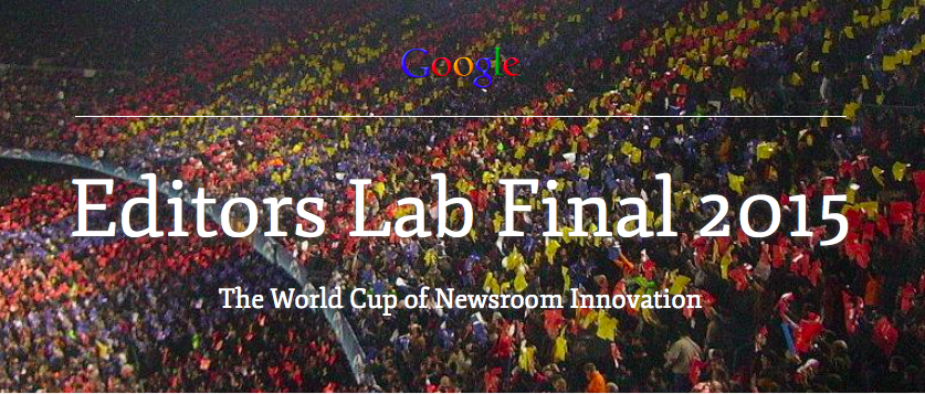 Editors Lab Final 2015. Imagen: Global Editors Network