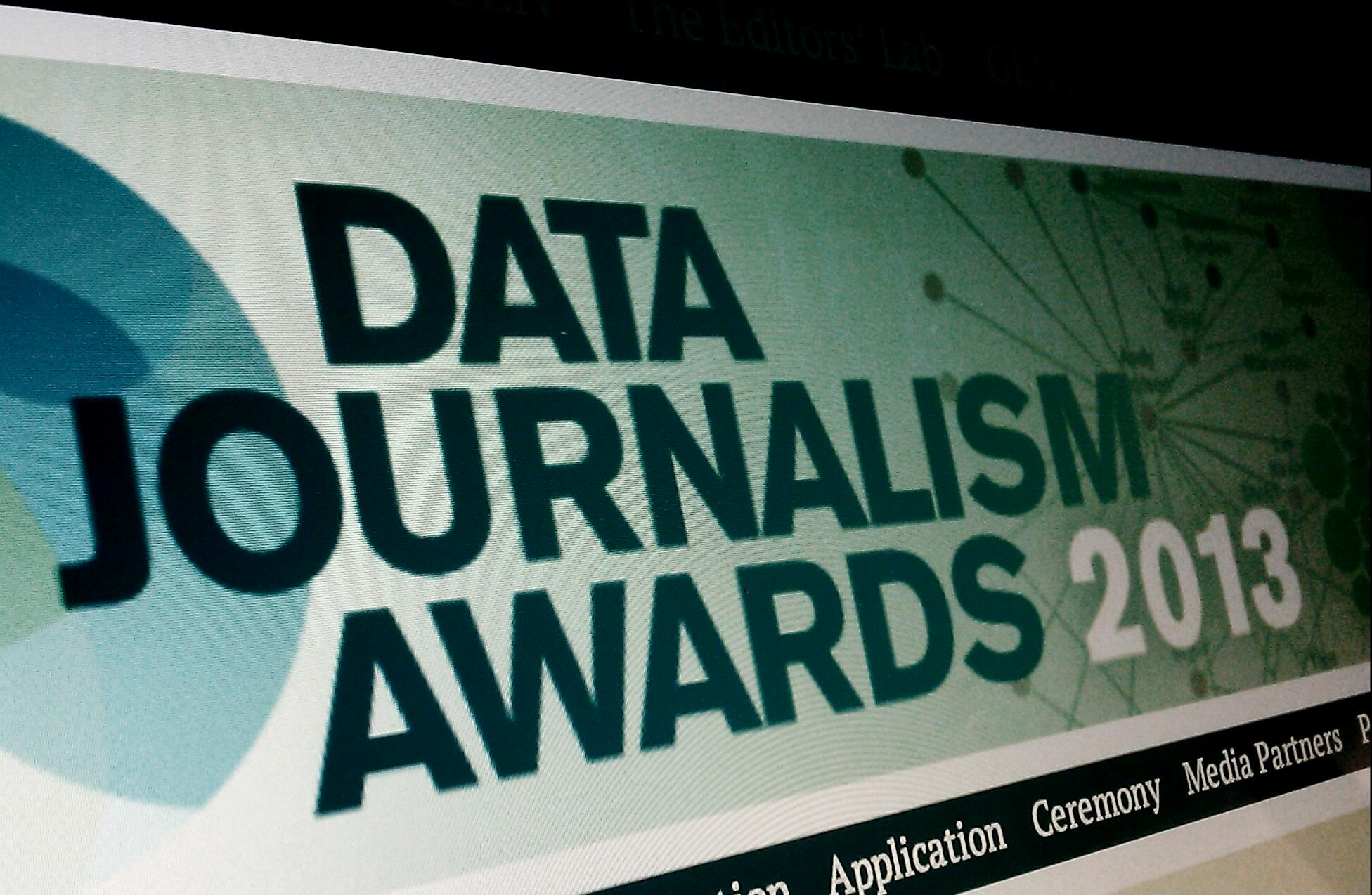 Data Journalism Awards 2013